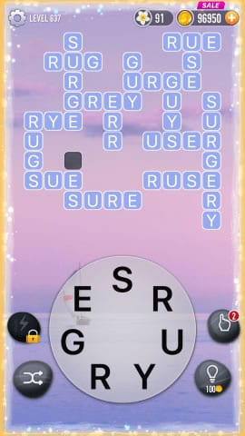 Word Crossy Level 637 Answers