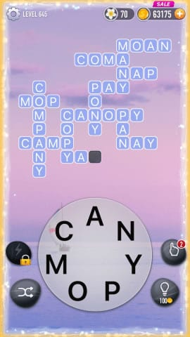 Word Crossy Level 645 Answers