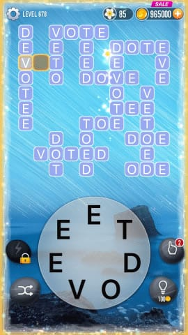 Word Crossy Level 678 Answers