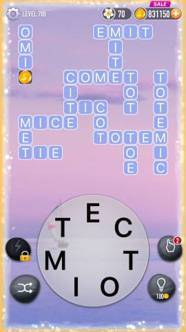 Word Crossy Level 709 Answers