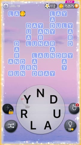 Word Crossy Level 726 Answers
