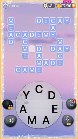 Word Crossy Level 734 Answers