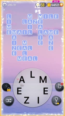 Word Crossy Level 751 Answers