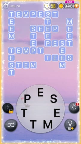 Word Crossy Level 770 Answers