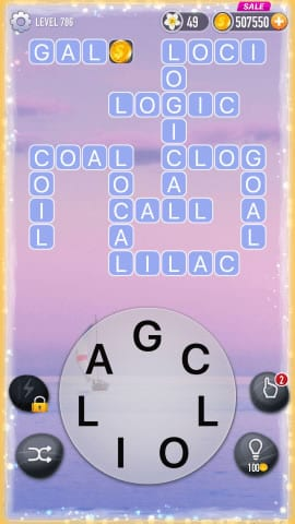 Word Crossy Level 786 Answers