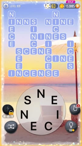 Word Crossy Level 920 Answers