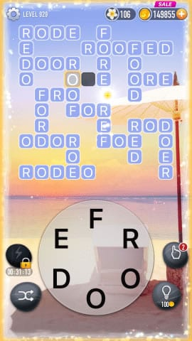 Word Crossy Level 929 Answers