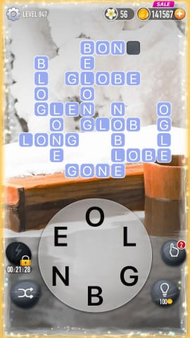Word Crossy Level 947 Answers