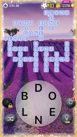 Word Crossy Level 986 Answers