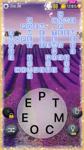 Word Crossy Level 990 Answers